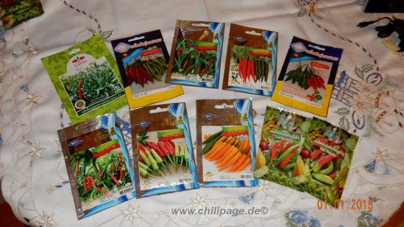 Chili Saatgut Päckchen aus Thailand